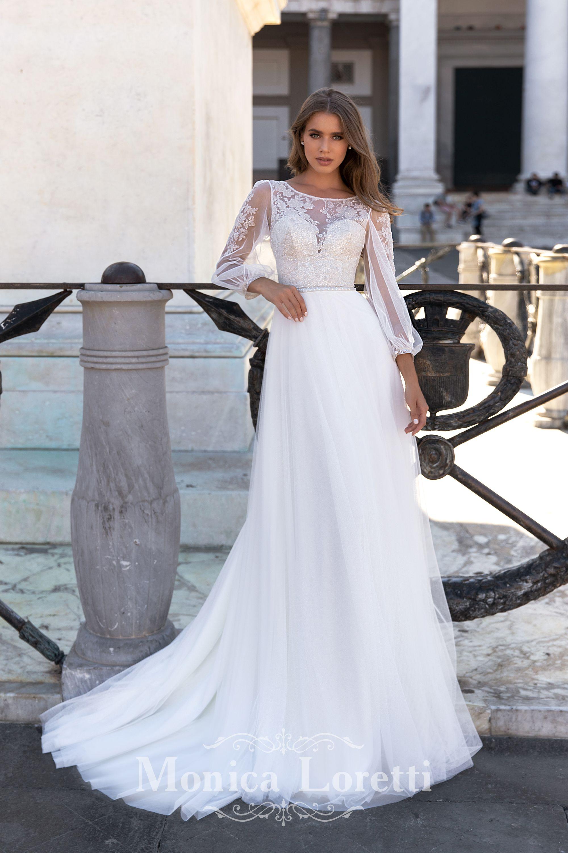 Monica loretti 8149 outlet vestidos economicos colección 2021