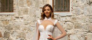 capa de novia Monica Loretti 8183 colección 2022 Essencia Novias
