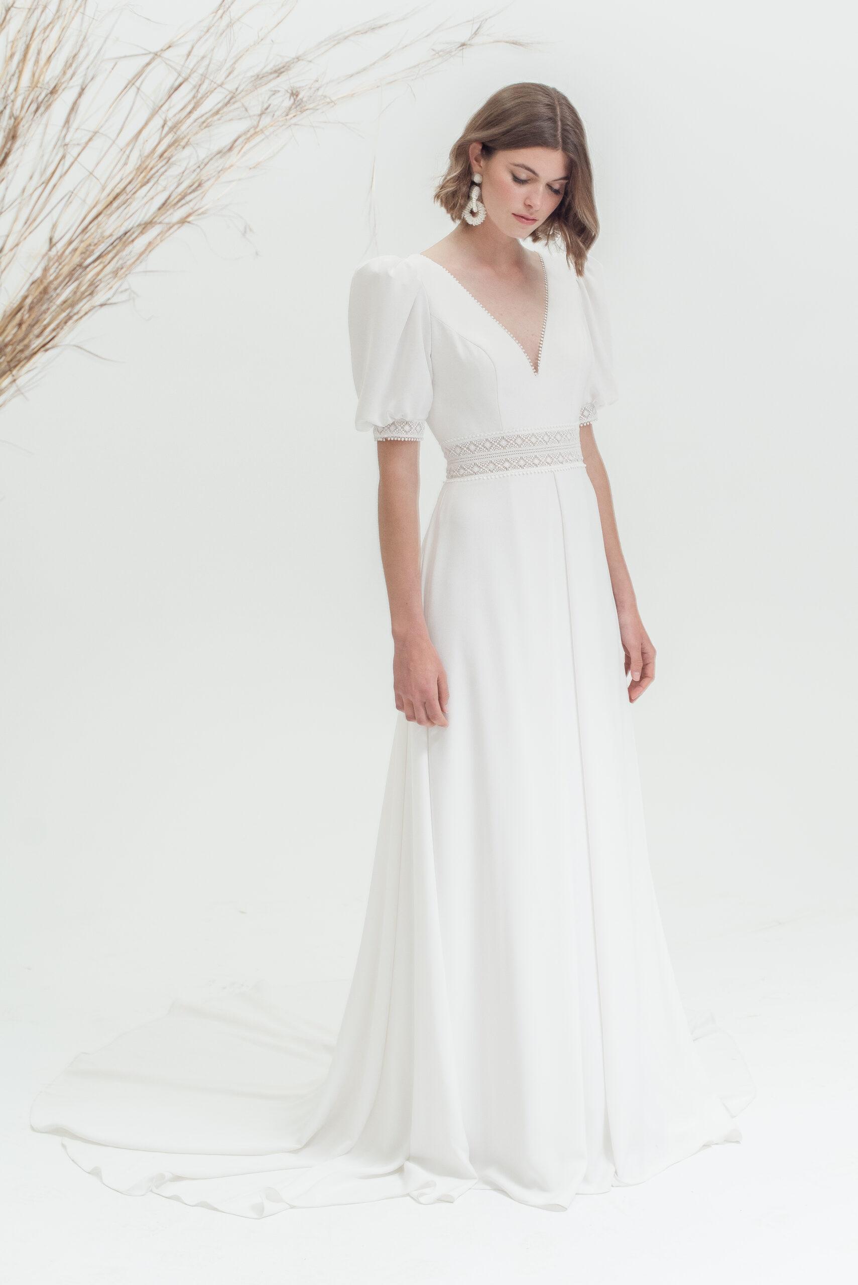 Fara sposa coleccion 2022 essencia novias modelo adara