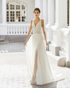 Adriana alier coleccion 2022 modelo Saky rosa clará essencia novias